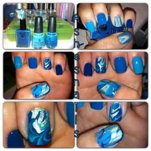 All three Aretha current fave styles! Hope you like it as much as I am right now! Who knew it'd be this cool! Not letting tag cosmetic art polish.  (Purchased at Ross during the summer, made super blueberry fingers and a pain to clean up but best formula out of all the polishes used and only for $1.99 and a subsidiary or Forsythe aka color club!)
