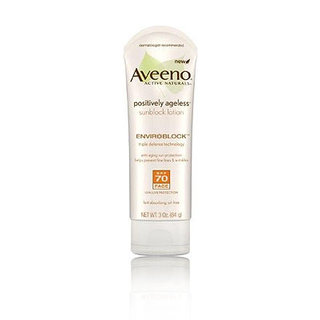 Aveeno Positively Ageless Sunblock Lotion with SPF 70 for Face