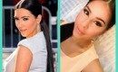 How To: Kim Kardashian gold and coral makeup tutorial! MUST WATCH!!!