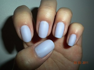Style Two: Matte pale lavender solid nails