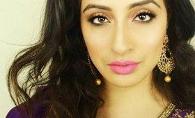 Spring Inspired Indian Makeup-GRWM Glowey Skin & Bright Lips