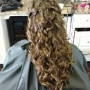 long hair formal hair by Christy Farabaugh