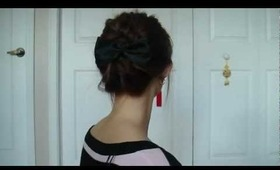 Honey Cruller Twisted Spiral Updo