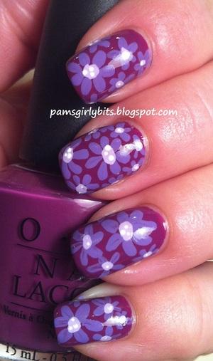 opi pampaloma purple nail art 048