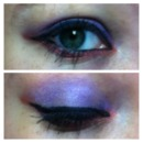 Purple blened with red eyeshadow winged out