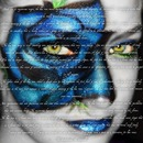 Creative makeup - Blue Rose using SHANY Cosmetics Neon Frenzy Palette