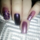 3 Shades of Purple Nails