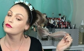 Ponytail with Human Hair Extensions -