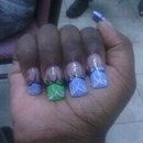 My real nails with acrylic on top