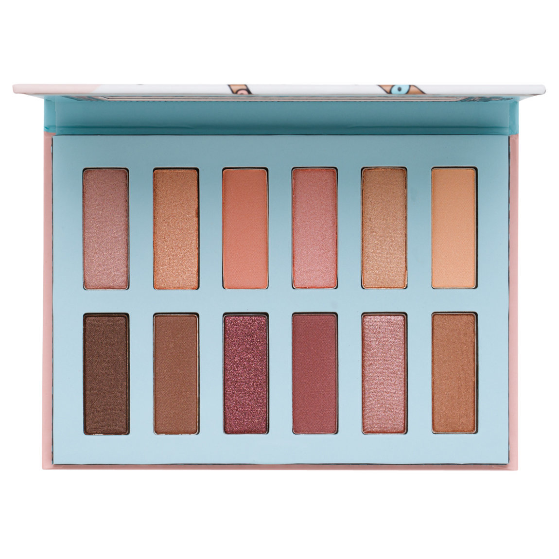 Benefit Cosmetics Vanity Flare Eyeshadow Palette product swatch.