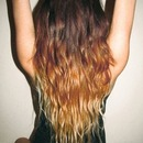 long hair ombré