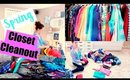 CLEAN WITH ME | CLOSET CLEANOUT | MAY 2017