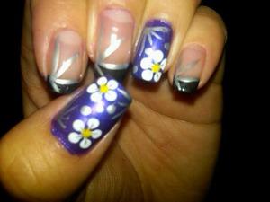 simple floral purple