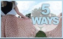 5 WAYS TO WEAR A HI-LO SKIRT