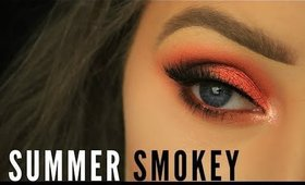 Spring/Summer Orange Smokey Eye Makeup | Eimear McElheron