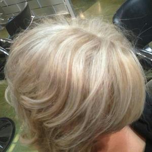 lowlights on platinum blonde using Paul Mitchell pm shines