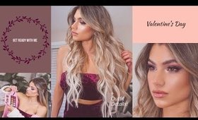GRWM Valentine's Day 2019 | Hair & Makeup Transformation (Before & After!)