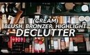 CREAM BLUSH, BRONZER & HIGHLIGHTERS I'm THROWING Out! (& What I'm Keeping) | Jamie Paige