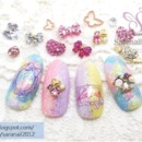 Nail Art For Valentine/ Pastel Colored Gel Nail Polish/ Cute and Lovely Nail Art