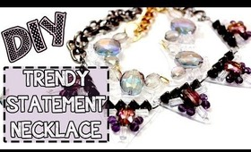 ☂DIY: Simple Statement Necklace {Shrink Plastic}