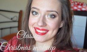 Klasické vianočné líčenie / Classic Christmas Makeup Tutorial