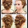 Messy Modern Curls Bridal Updo (look 2)