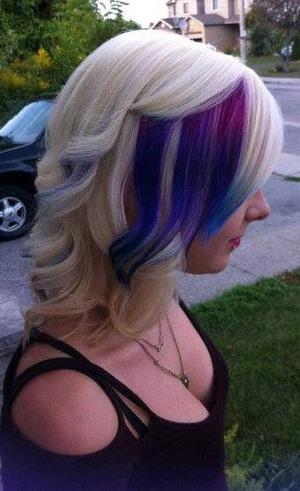 pink,purple, and blue ombre