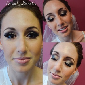 Bridal makeup I did in this beauty, love when brides let me do a dramatic eye I love it!!!