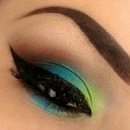 lime and blue