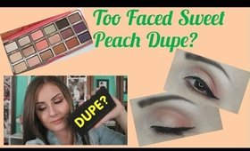 Too Faced Sweet Peach Dupe??? + Tutorial | Angela Marie