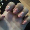 Pink cute nails ^.^