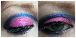 My fiance chose the colours and I did the look. It was great fun :)