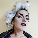 "Gaga ""Telephone"" costume makeup"