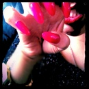 stiletto neon nails