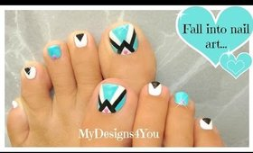 Retro Toenail Art Design | Pedicure ♥