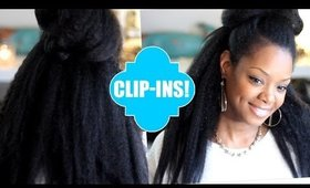 Natural Hair Blow Out CLIP INS! EASY! Knappy Extensions Review!
