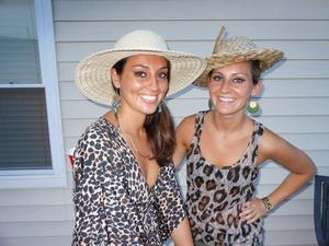 My cousins Amanda and Theresa-safari party