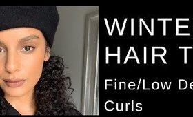 Fine Curly Hair - Winter Hair Care Tips