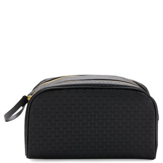 Double Zip Makeup Bag Black