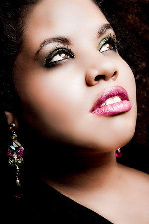 One of my looks for a photo shoot! Inspired by my jeweled earrings. Makeup Artistry by Me! :)