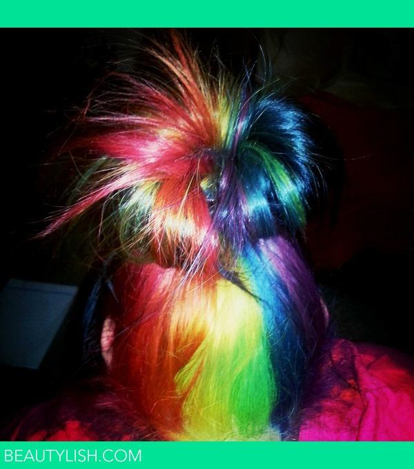 Messy Rainbow Bun Danielle B S Photo Beautylish