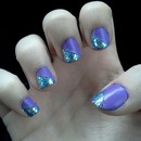 Blue and purple nails!