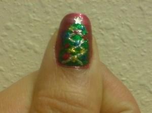 Christmas Tree Nails 2011