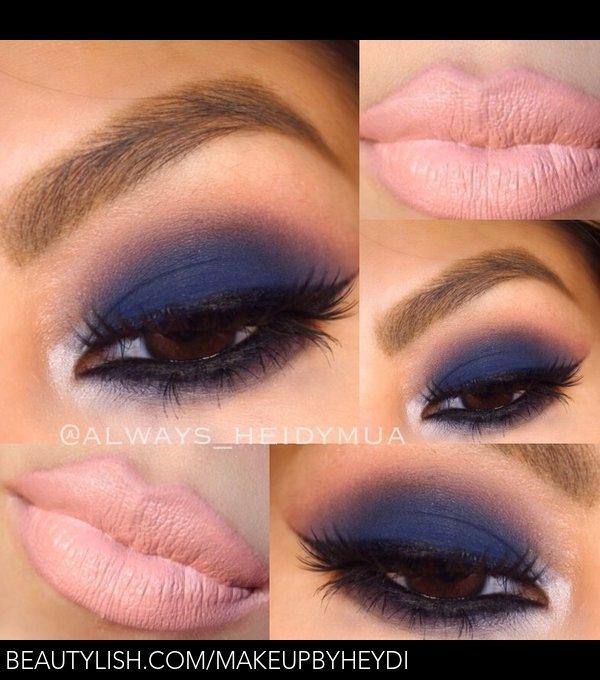 Navy Blue Smokey Eye Heidy E S Makeupbyheydi Photo