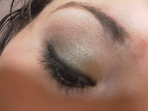 Gold, emerald and chocolate brown smokey eye, great for fall!