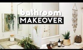 EXTREME ROOM MAKEOVER! DIY BATHROOM TRANSFORMATION ON A BUDGET | Nastazsa