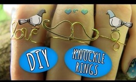 DIY Wire Rings! 3 Ring Designs - Moustache, Infinity and Love <3