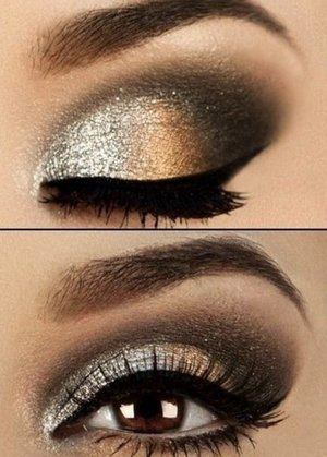 Beautiful shimmery look for a party!! <3
