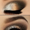 Shimmery makeup