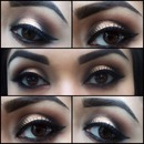 Smokey Gold Eye Shadow